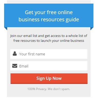 Online Business Resources Checklist Lead Magnet